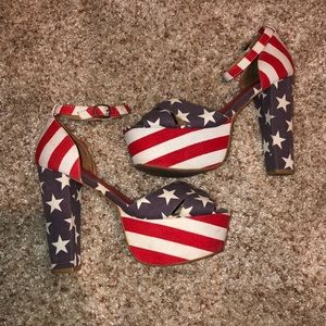 Jeffrey Campbell Stars and Stripes heels 8.5